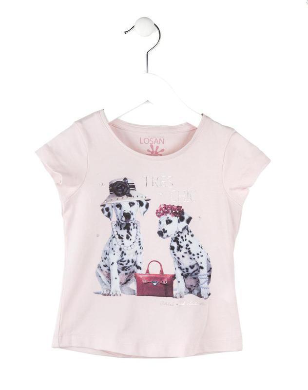 Losan παιδική μπλούζα με διακοσμητικά στρασάκια