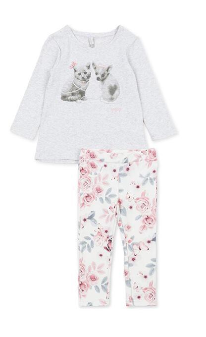 Losan σετ μπλουζοφόρεμα και κολάν floral