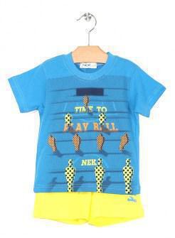 Nek σετ μακό μπλούζα και βερμούδα Image 0
