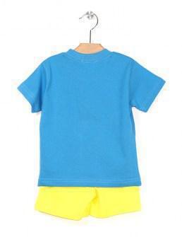 Nek σετ μακό μπλούζα και βερμούδα Image 1