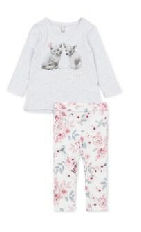 Losan σετ μπλουζοφόρεμα και κολάν floral Image 0
