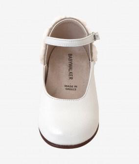 Babywalker βαπτιστικό παπουτσάκι με τριανταφυλλάκια εκρού Image 1